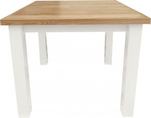 Stół Drewniany Kwadratowy Stm 5b Stół Kwadratowy Sosnowy Biały