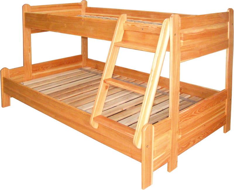 łóżko Piętrowe Drewniane Ldm 490120