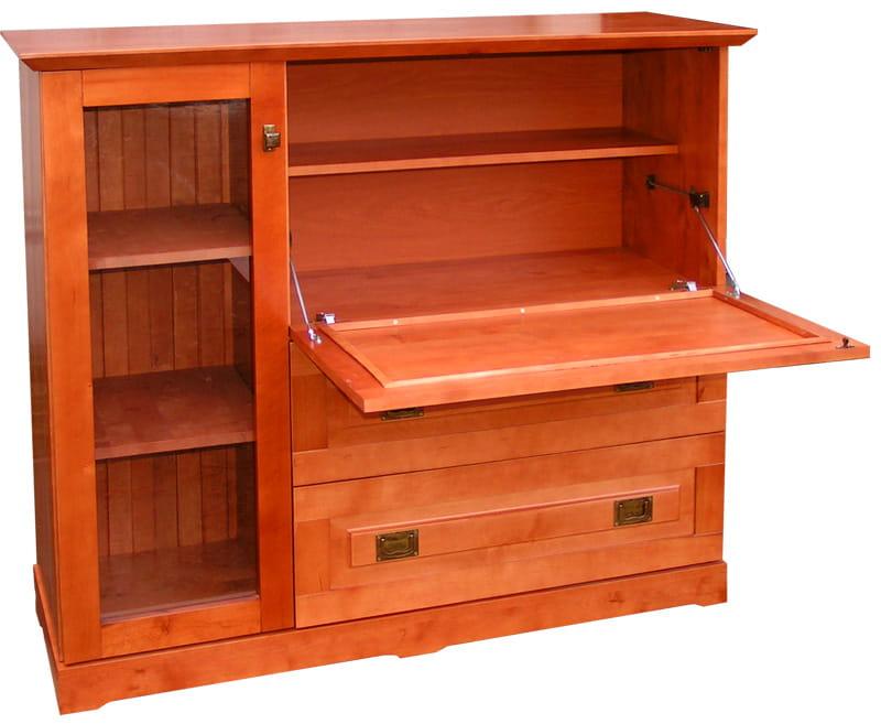 Inne rodzaje Komoda-Barek drewniany KDB-2 z drewna litego na alkohol i wino JF46