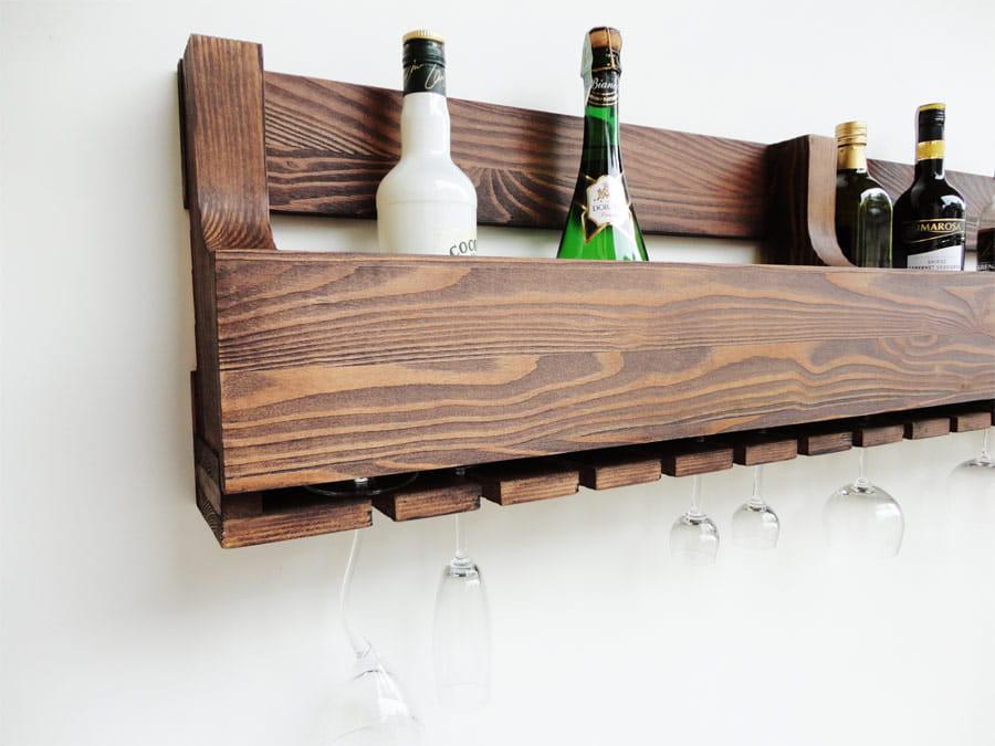 Niesamowite Półka drewniana na wino PDM-10a - Meble ANZYS, producent mebli z QC79